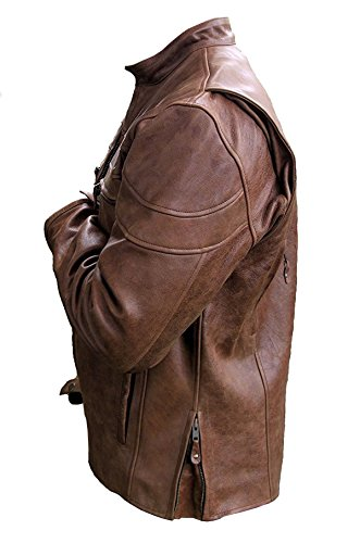 Piumino Uomo Giacca Distressed Smoke Red Brown qEpYBn8