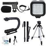 Beginner Microphone Filmmaker Starter Kit for Nikon CoolPix L840, L810, L610, L310, L120, L110, L100 Point & Shoot Cameras
