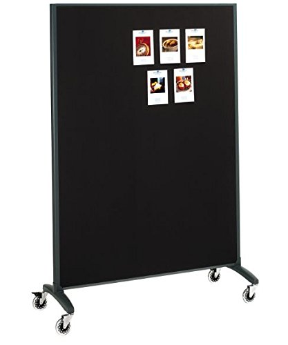 Quartet 6630MB Motion Series 36 by 72-Inch Room Divider Partition, Fabric/Porcelain by ACCO Brands