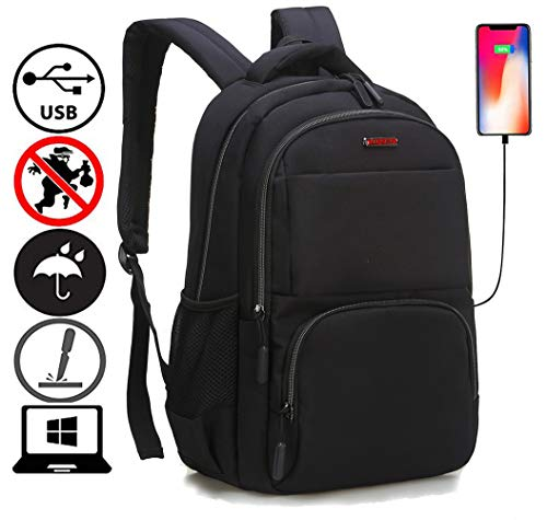 Travel Laptop Backpack,Business Anti Theft Slim Durable Laptops Backpack USB Charging Port,Water Resistant College School Computer Bag Women & Men Fits 15.6 Inch Laptop Notebook... (Slim Backpack Hike)