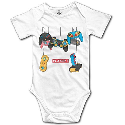 Price comparison product image PiggyWiggy Matching Family Player 1 Vintage Video Game Fullfun Short Sleeve Baby Boy Clothes Baby One-piece Dress Unisex