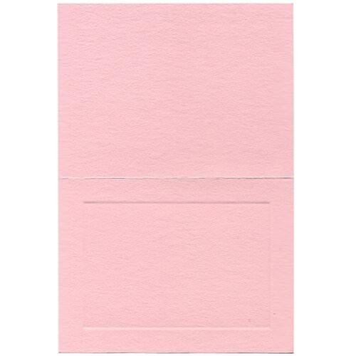JAM Paper Blank Foldover Cards - A6 Size - 4 5/8'' x 6 1/4''- Pink Panel - 500/box by JAM Paper