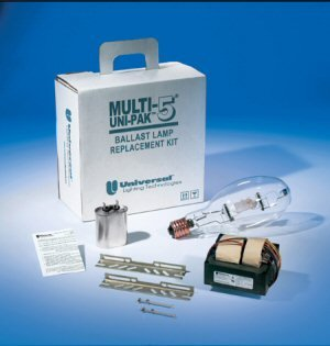 UNIVERSAL LIGHTING TECHNOLOGIES M175ML5AC3M555K Universal Hid Multi-5 Unipak Metal Halide Replacement Kits with Lamp 175 Watt, Plastic, 0.516'' x 0.516'' x 0.516''