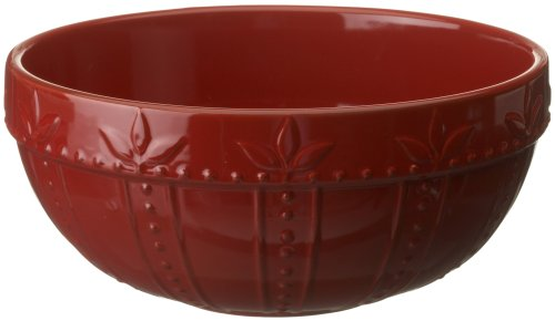 Signature Housewares Sorrento Collection 60-Ounce Small Mixing Bowl, Ruby Antiqued Finish