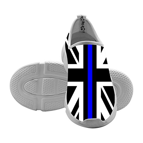 Union Jack Thin Blue Line Kids Casual Sneakers Slip-On Loafers Custom Elastic Shoes