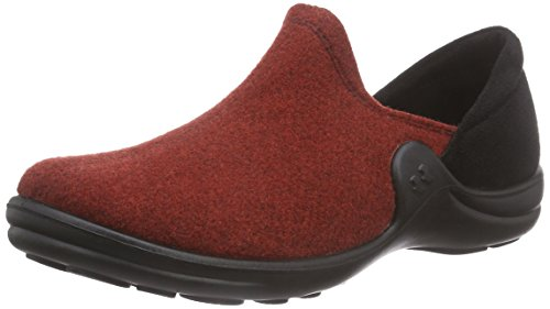 449 03 Femme Doublées schwarz Chaussons rot Home Rot Courts Non Maddy Romika Rw6xqZP