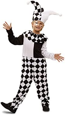 Disfraz de Arlequín blanco y negro para niño: Amazon.es: Juguetes ...