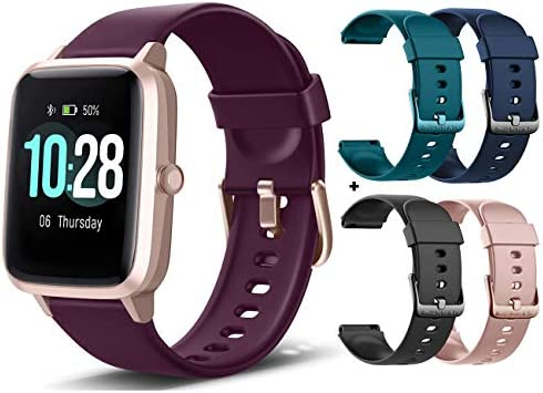 """MCNNADI Smart Watch Fitness Tracker [with 4 Extra Bands/Straps] Heart Rate/Sleep Monitor & Stress Control, Activity Tracker with 1.3"""" Touch Screen, Waterproof, Pedometer, Step Counter for Women Men"""