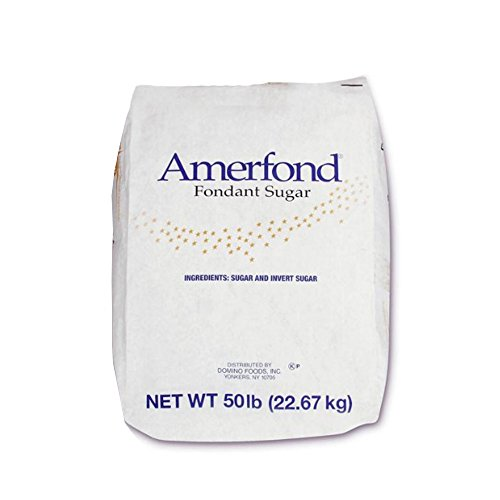 Amerfond Dry Fondant Sugar by Domino Foods for Baking and Glossy Finish, Kosher Certification - 50Lbs by Domino