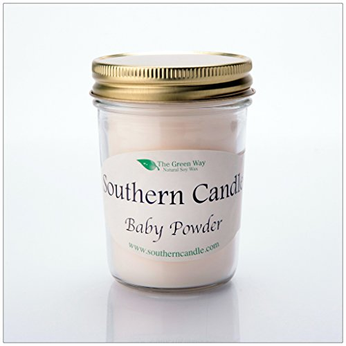 Baby Powder - 8 oz Heritage Jar Natural Soy Wax Candle