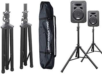 2 Stück Boxenständer Stativ Ständer mit 2 x Tasche f Audio Speaker Lautsprecher