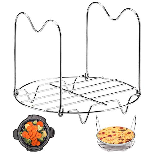 Tmflexe Steamer Rack Trivet with Handles for Instant Pot 6 QT 8 QT and other Electric Pressure Cookers Instant Pot accessories