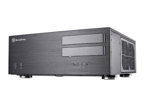 Silverstone Tek GD08B Aluminum Extended ATX / SSI-EEB compatible / SSI-CEB HTPC Computer Case Cases – Black by SilverStone Technology (Image #1)