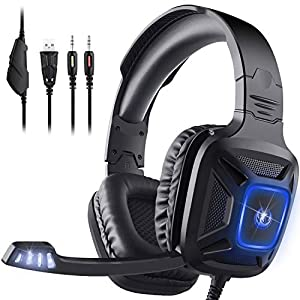 Best Epic Trends 41rUB4OJE8L._SS300_ Gaming Headset for Xbox One & PS4, AIMASON Noise Cancelling Over Ear Headphone w/Crystal Stereo Bass Surround Sound…