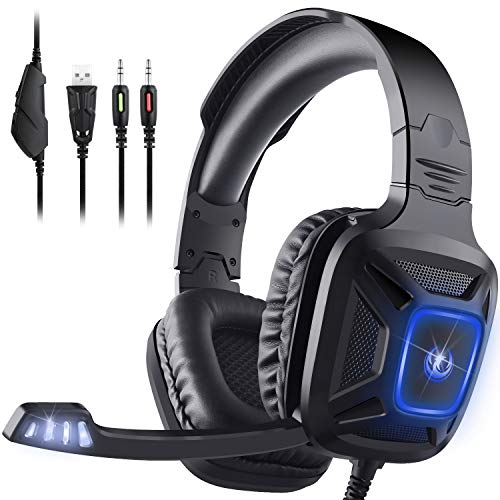 Gaming Headset for Xbox One & PS4, AIMASON Noise Cancelling Over Ear Headphone w/Crystal Stereo Bass Surround Sound…