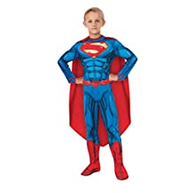 Rubies Costume DC Comics Deluxe Muscle-Chest Superman, Child Medium