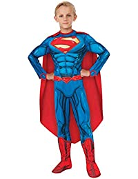 Rubies DC Comics Deluxe Muscle-Chest Superman Costume, Small (4-6)