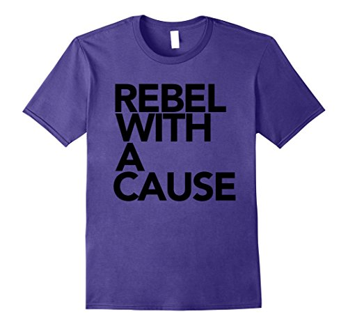 Mens Rebel With A Cause Tee Shirt Small Purple - Cause Rebel T-shirt