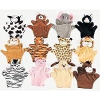 6 marionetas de animales de terciopelo de felpa