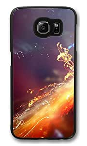 Fireworks erupted PC Case Cover for Samsung S6 and Samsung Galaxy S6 Black