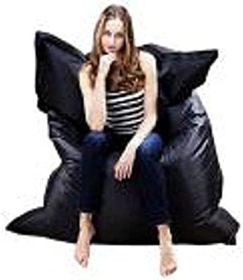 silla hinchable al aire libre Sannysis sillas gaming baratas almohada de exterior (Negro)