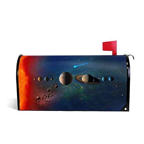 (KIIKISS HUG Solar System Meteorites in Orbit Magnetic Mailbox Cover Covers Standard Size 25.5x21 in)