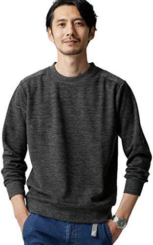 [ナノユニバース] Tシャツ 交編鹿の子コマンド クルーネック メンズ