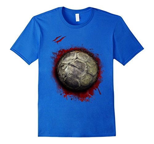 Mens zombie soccer player tshirt halloween 2017 Small Royal Blue