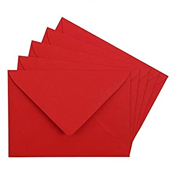 c6 red envelope gummed 100 gsm qty 25 amazon co uk office products