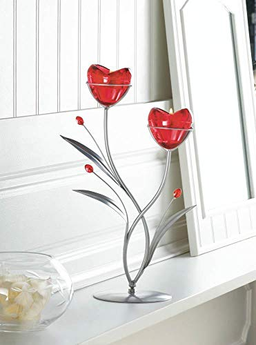 (red Heart Love Tea-Light Metal Candelabra Candle Holder Wedding Table Decoration Decorative Centerpieces for Living Dinning Room Table Decoration, Wedding Gifts)