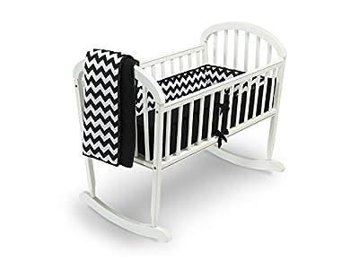 Baby Doll Chevron Cradle Bedding Set