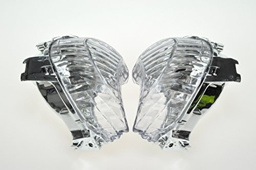 (TOPZONE PARTS Clear Motorcycle Indicators Turn Signal Lens for Suzuki 2008-2016 Hayabusa (Front) GSXR1300)