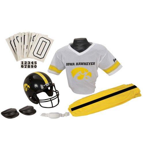 Iowa Hawkeyes Youth NCAA Deluxe Helmet and Uniform Set (Medium)