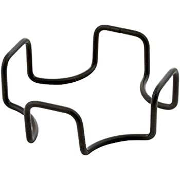 Thirstystone Minimalist Metal Holder-for Square or Round Coaster Sets, Holds Multiple Sizes and Types, modern black four post wrought iron style