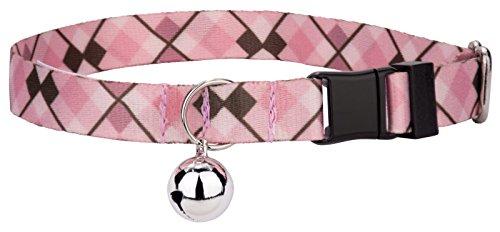 Country Brook Petz | Pink and Brown Argyle Cat Collar