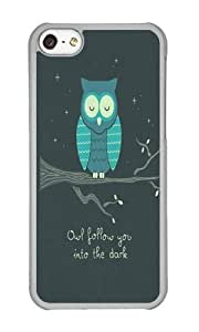 Apple Iphone 5C Case,WENJORS Cute The Romantic Hard Case Protective Shell Cell Phone Cover For Apple Iphone 5C - PC Transparent