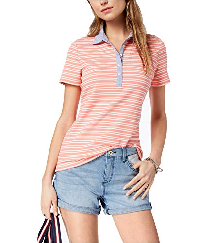 Tommy Hilfiger Women's Chambray-Collar Polo Top (Tommy Hilfiger Polo Sale)