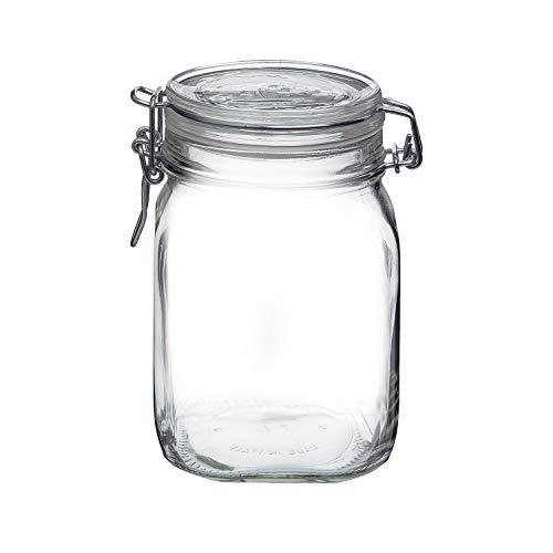 - Bormioli Rocco Fido Clear Jar, 33-3/4-Ounce