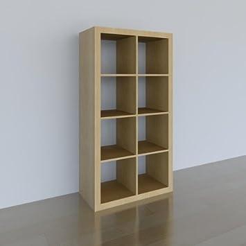 Bücherregal expedit  IKEA Regal EXPEDIT (8 Fächer) BIRKE, 149x79x39cm: Amazon.de: Küche ...