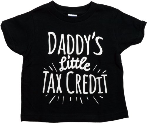 Ann Arbor T-shirt Co Big Boys' Daddy's Little Tax Credit Youth & Toddler T-shirt