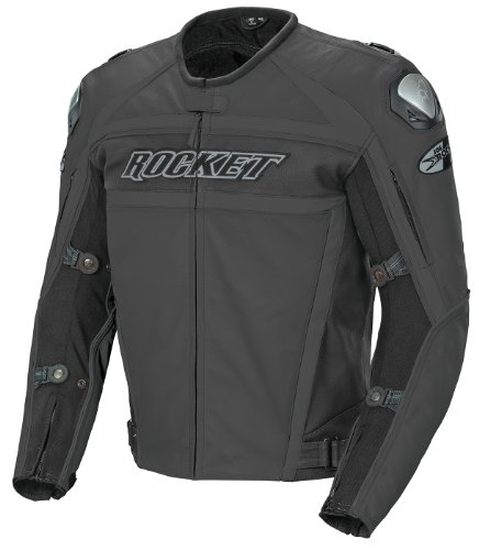 Joe Rocket Speedmaster Men's Leather Motorcycle Jacket (Stealth Black, Size (Joe Rocket Speedmaster Leather)