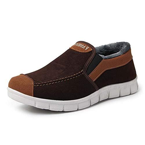 best sneakers 77959 a9293 Hibote Con Para top Low Botas 44 De Zapatillas Deportes Al Deporte Libre  Warm Botines Hombre Trainers Aire 3 Flat Nieve Cordones Felpa Zapatos ...