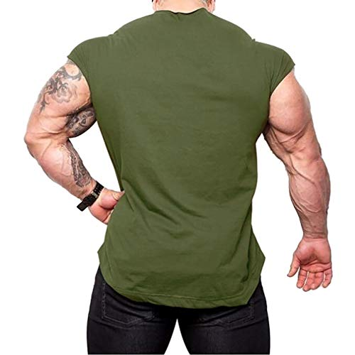 Tshirt Manches Yying Hommes Gym Training Verte Muscle Bodybuilding Sans Armée Entraînement Fitness wwgzOXq