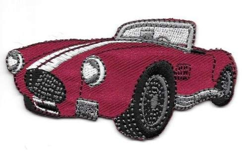 - 1 3/4'', x 3 1/8'', Red Classic Roadster Convertible Car Patch