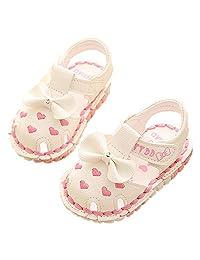 Monvecle Newborn Infant Girl Summer Soft Sole Shoes Cartoon Anti-Slip Casual Toddler First Walker Sandals 0-14M