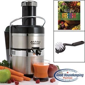 Jack Lalanne's JLSS Power Juicer Deluxe Stainless-Steel Electric Juicer from Jack LaLanne