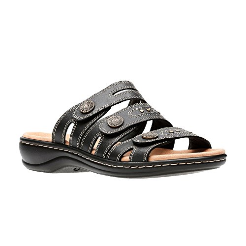 on Lakia Black Women's Clarks Slide Leisa Sandals wqTTSxzI