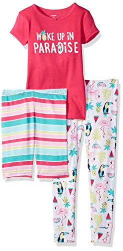 Carter's Big Girls' 3-Piece Cotton Pajamas, Paradise, 5 ()