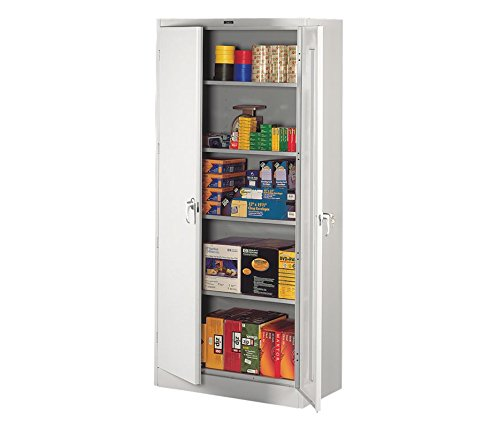 Tennsco 7818LGY 7818 Heavy Gauge Steel Deluxe Welded Storage Cabinet, 5 Shelves, 150 lb. Capacity per Shelf, 36
