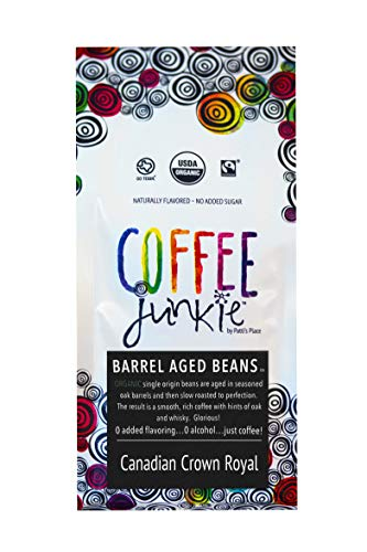 - Coffee Junkie Crown Royal Barrel Aged Coffee Beans